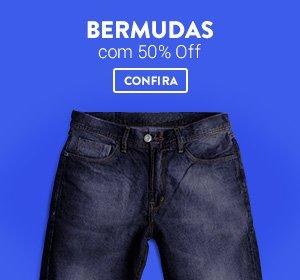 Bermudas com 50% Off