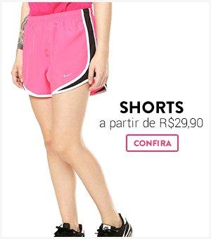 Shorts a partir de R$29,90