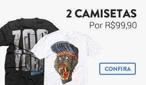 2 Camisetas por R$99
