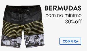 Bermudas com no mínimo 30% Off