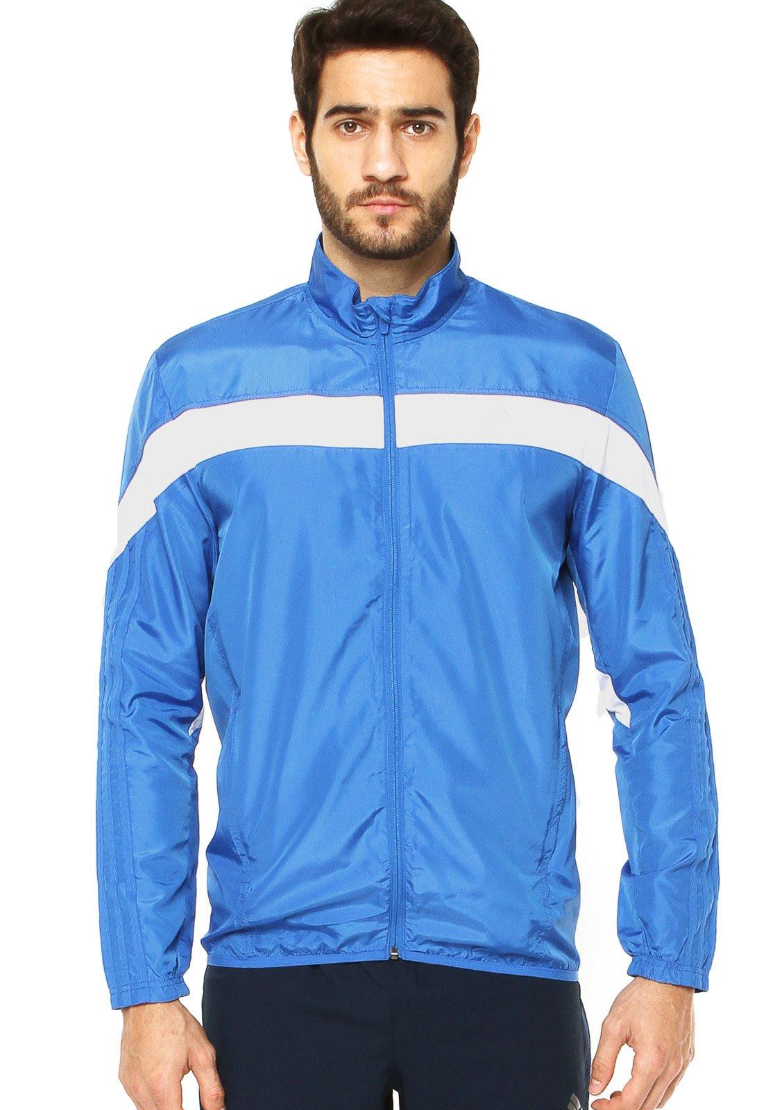 jaqueta adidas azul claro