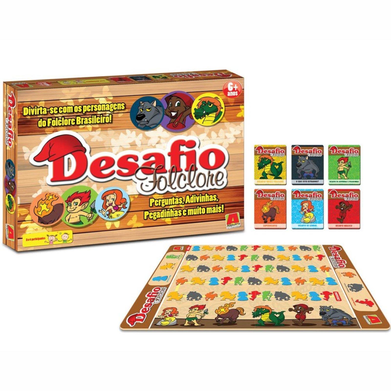 d1362e617 Jogo de Tabuleiro Algazarra Desafio Folclore Multicolorido - Compre Agora |  Tricae Brasil