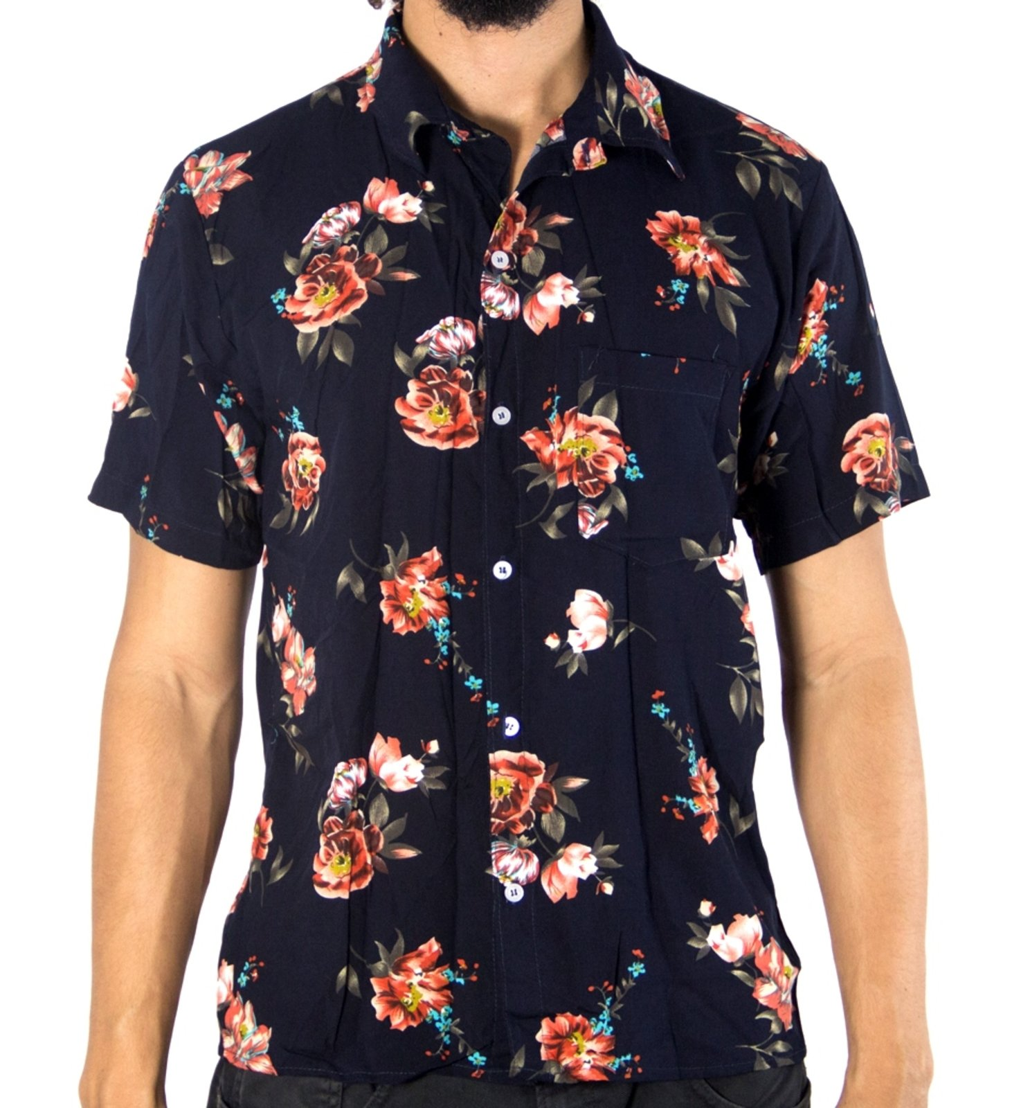 4c58576a0fa40 Camisa Andy Roll Clothing Floral Westerny Flower Azul - Compre Agora ...