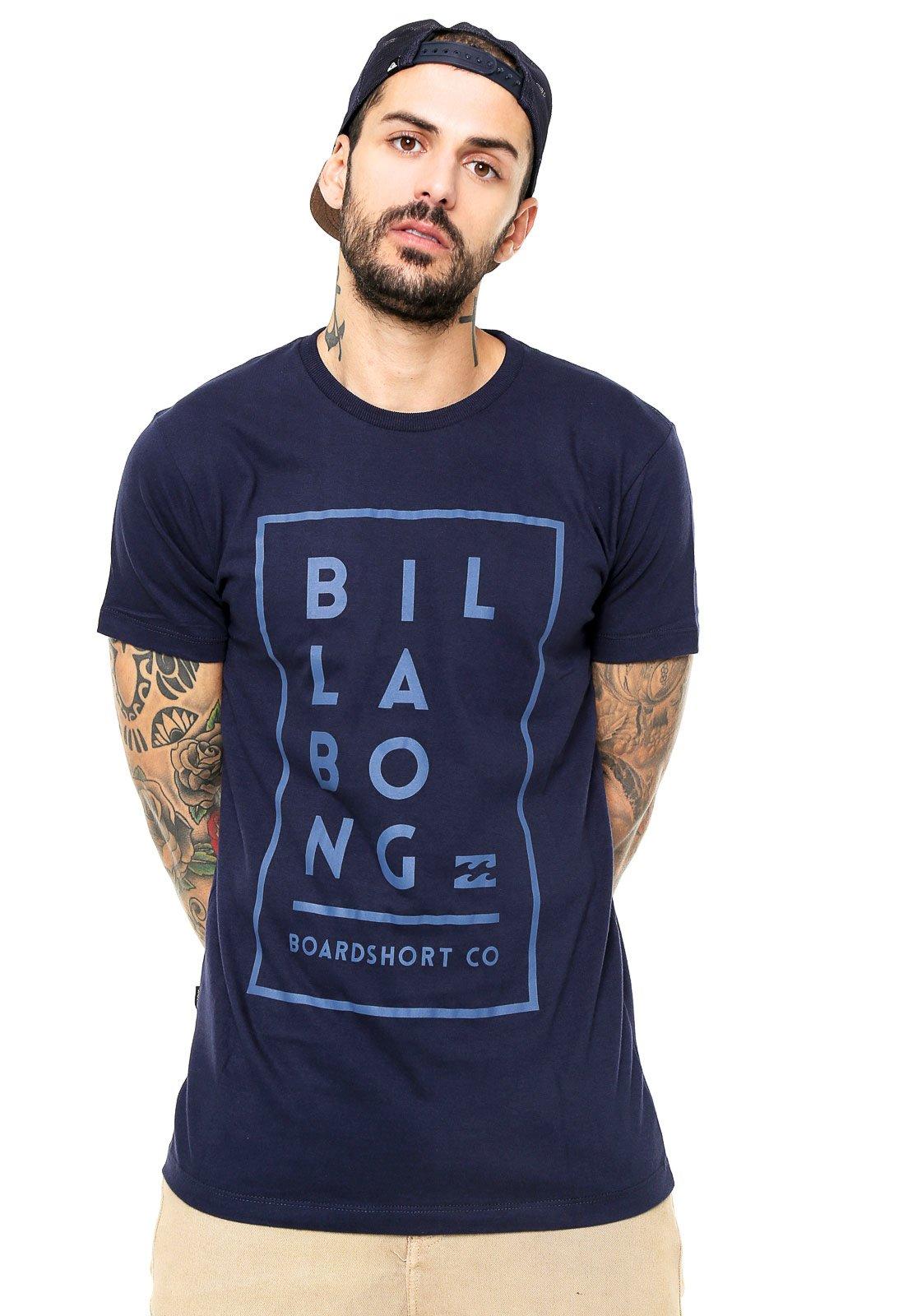 Camiseta Billabong Equation Azul-Marinho - Compre Agora  ef2aba3db11