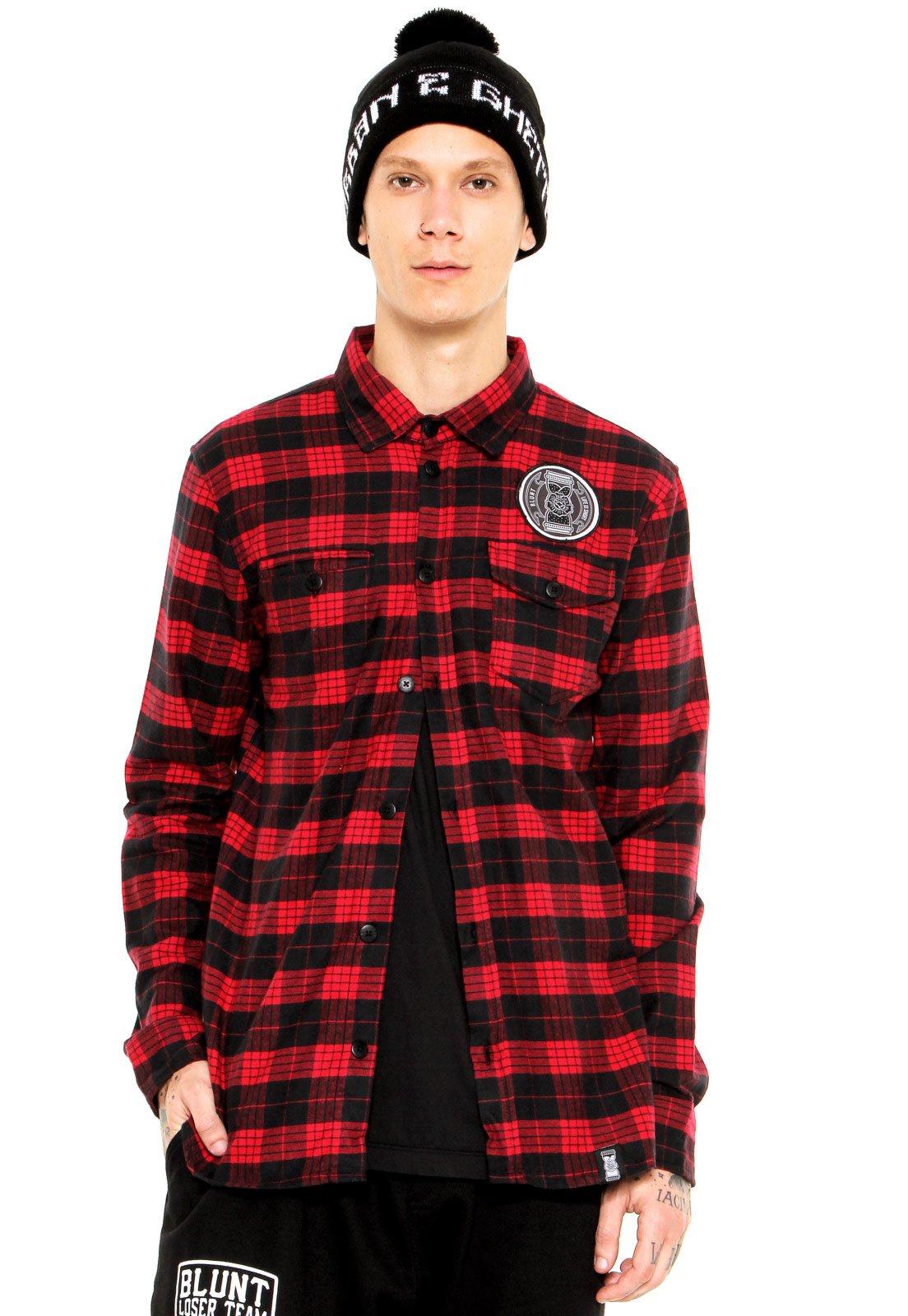 981283f0cff5e Camisa Blunt Flanelada Time Is Over Vermelha - Compre Agora   Kanui Brasil
