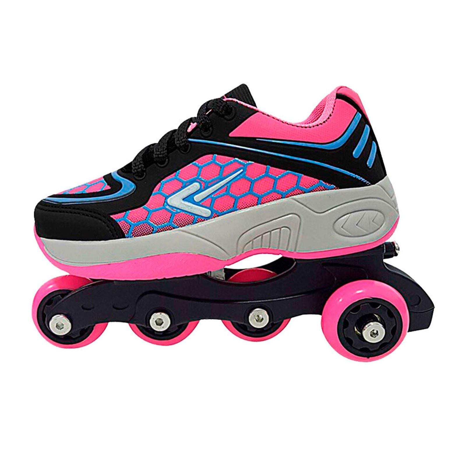 63789b952ea Tênis Box Kids Patins 4 Em 1 - Rosa - Compre Agora