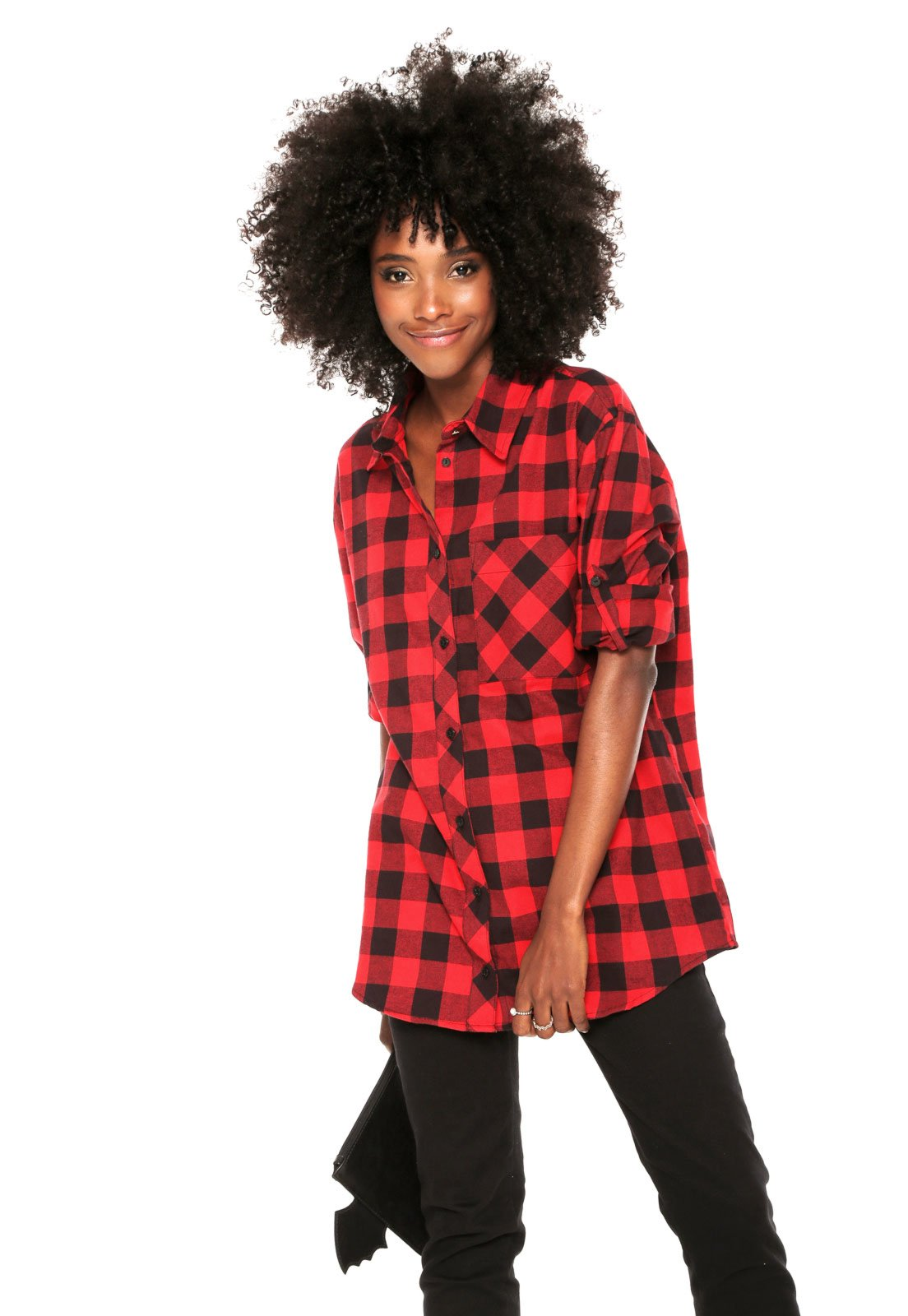 4e356ff3086be Camisa Carmim Flanela Xadrez Vermelha - Compre Agora   Kanui Brasil