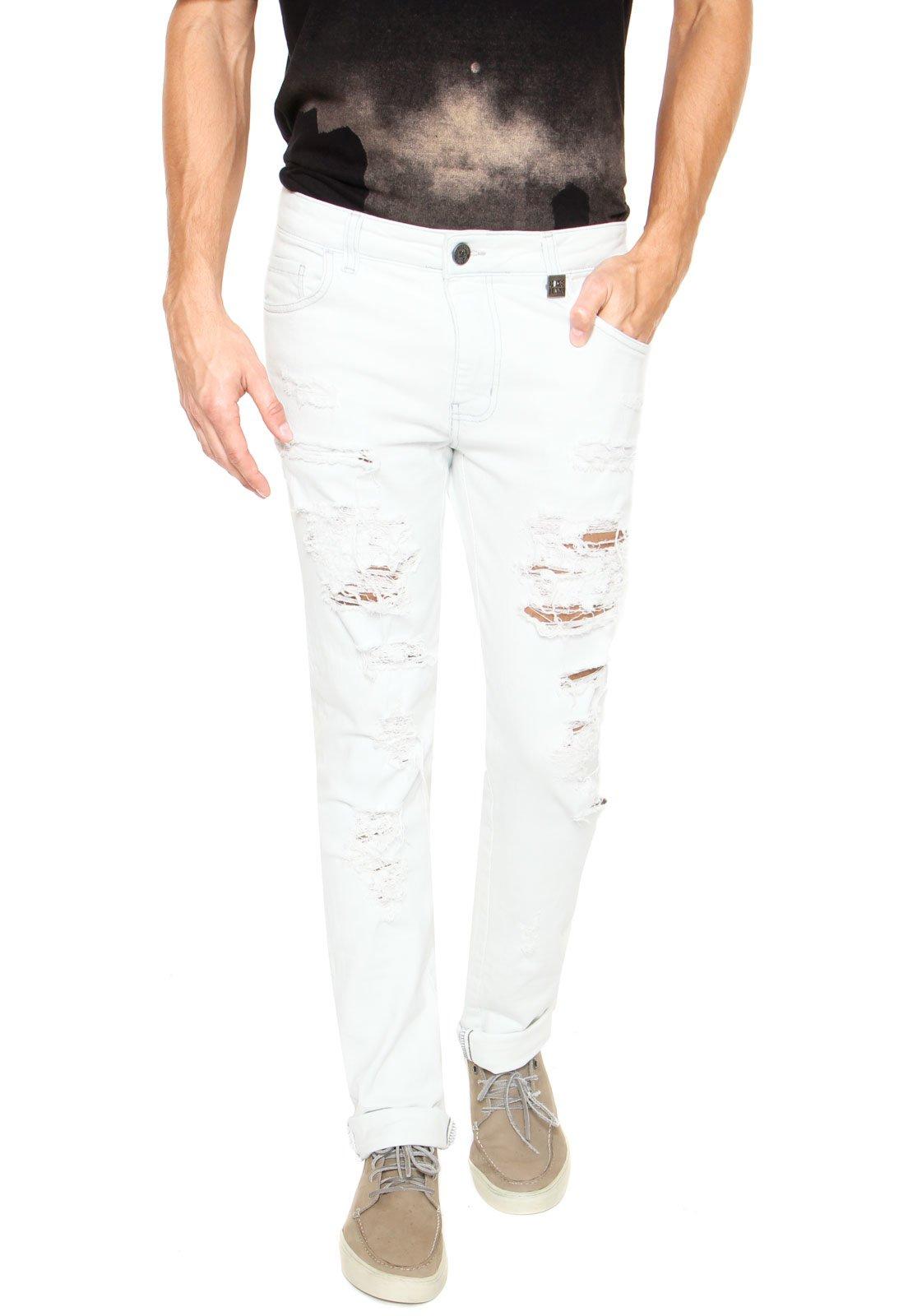 391af11e5 Coca-Cola Jeans. Calça Jeans Coca-Cola Jeans Skinny Destroyed Azul