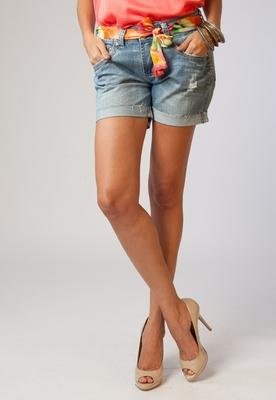 Shorts Jeans Faixa Azul