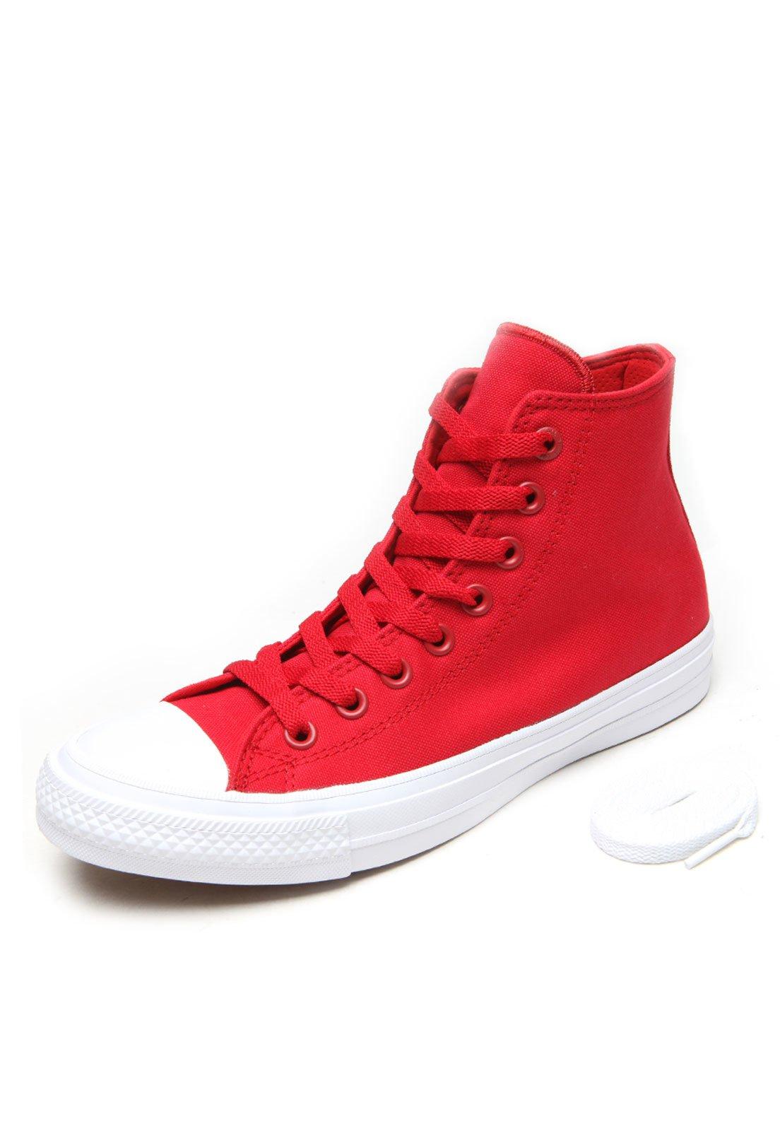 18373ba70e Tênis Converse Chuck Taylor All Star II Hi Cano Alto Vermelho - Compre  Agora
