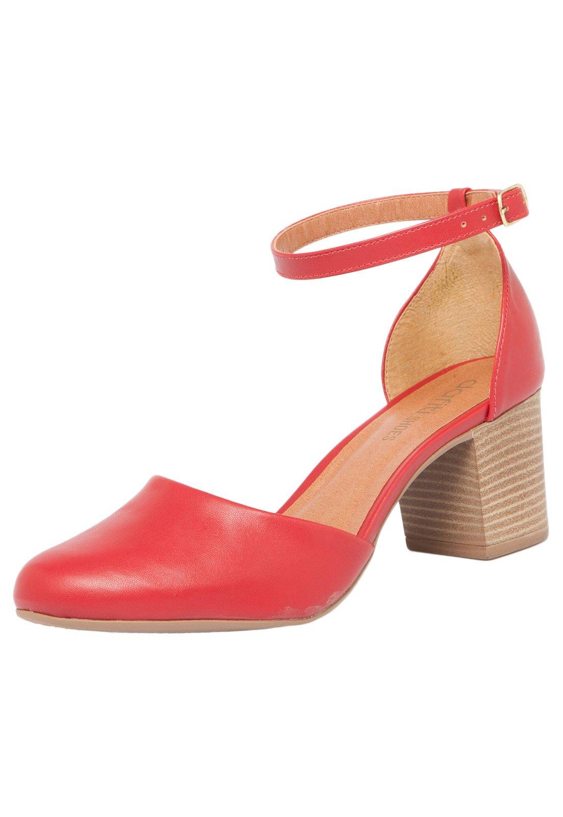 a549b103fb Scarpin DAFITI SHOES Básico Vermelho - Compre Agora
