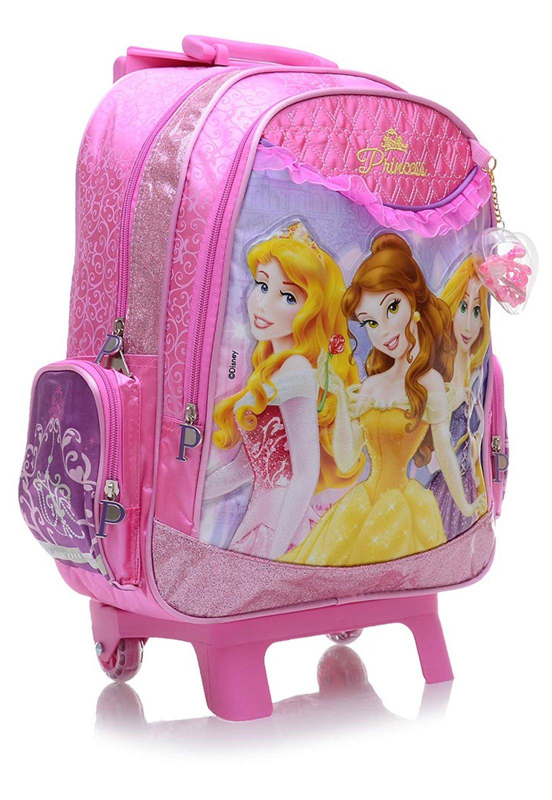 4c6cc5a0a Mochila de Rodinhas Infantil Dermiwil M Pink Princesas - Compre Agora |  Tricae Brasil