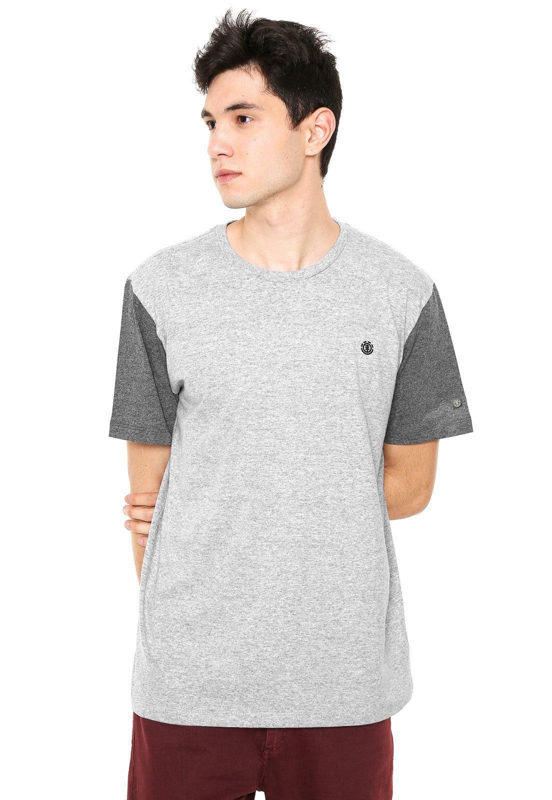 Element. Camiseta Element Bicolor Cinza 1a939dabec8