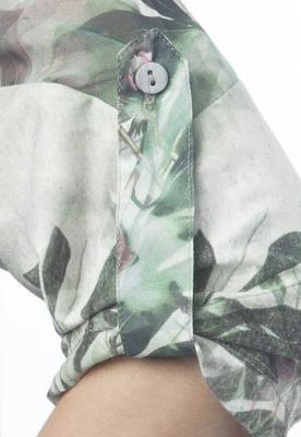Vestido Gola Botão Verde