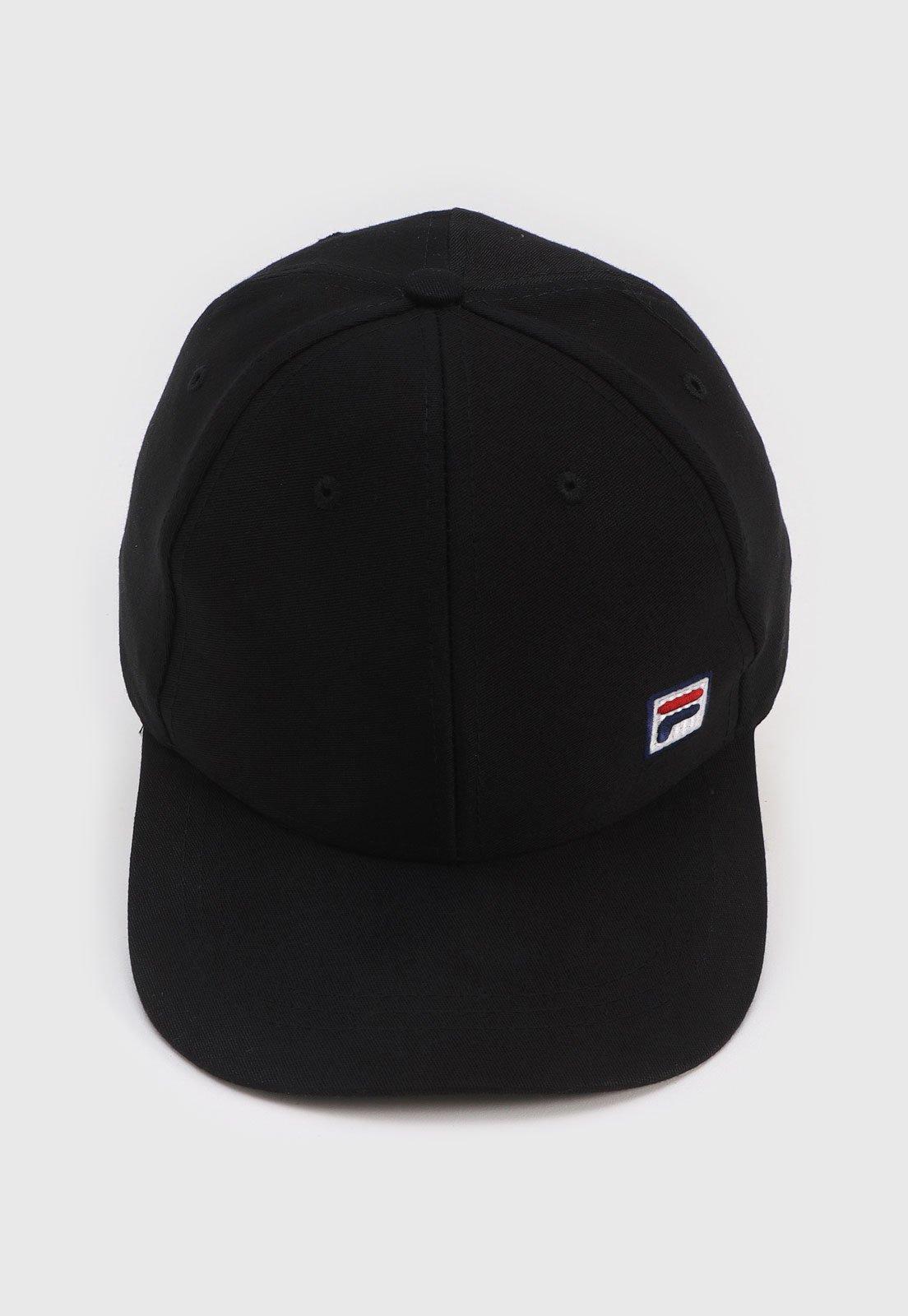Boné Fila Strapback Icon Preto - Compre Agora  8cd01784f99
