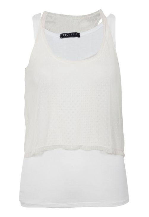 Blusa FiveBlu Sobreposição Off-white