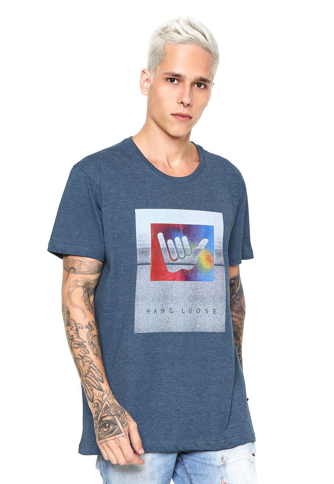 Camiseta Hang Loose Shakabow Azul - Compre Agora  58be89273649a