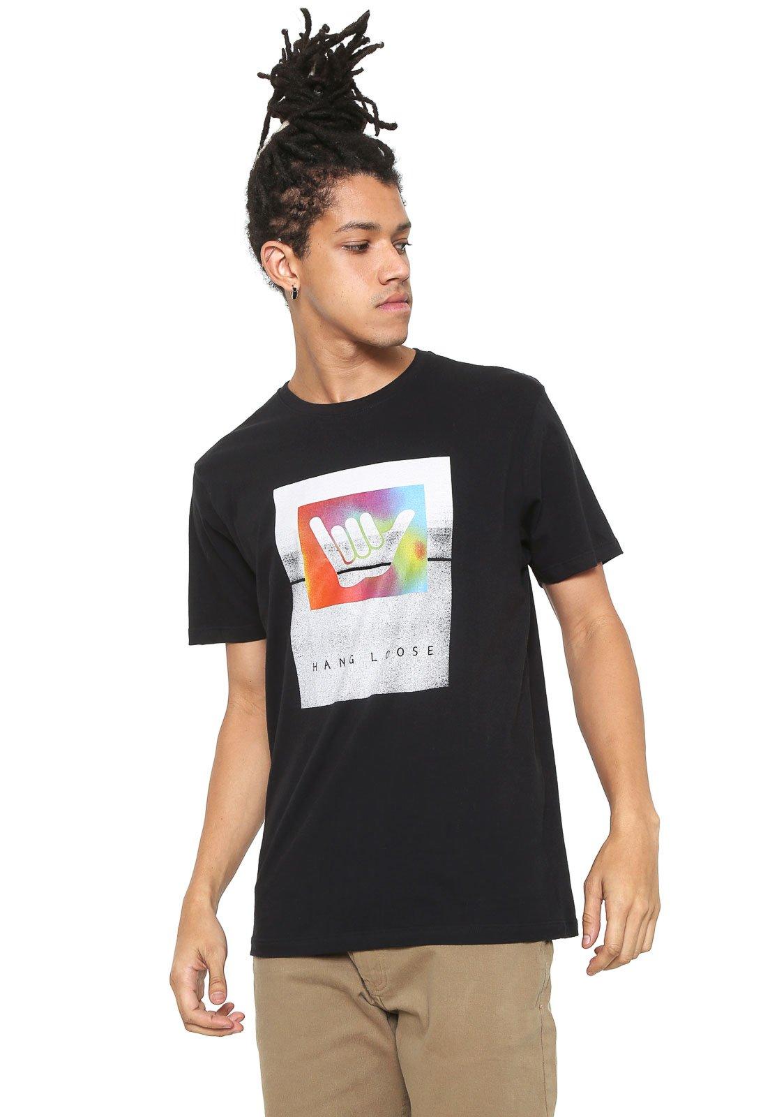 Camiseta Hang Loose Shakabow Preta - Compre Agora  77a45ce101c9a