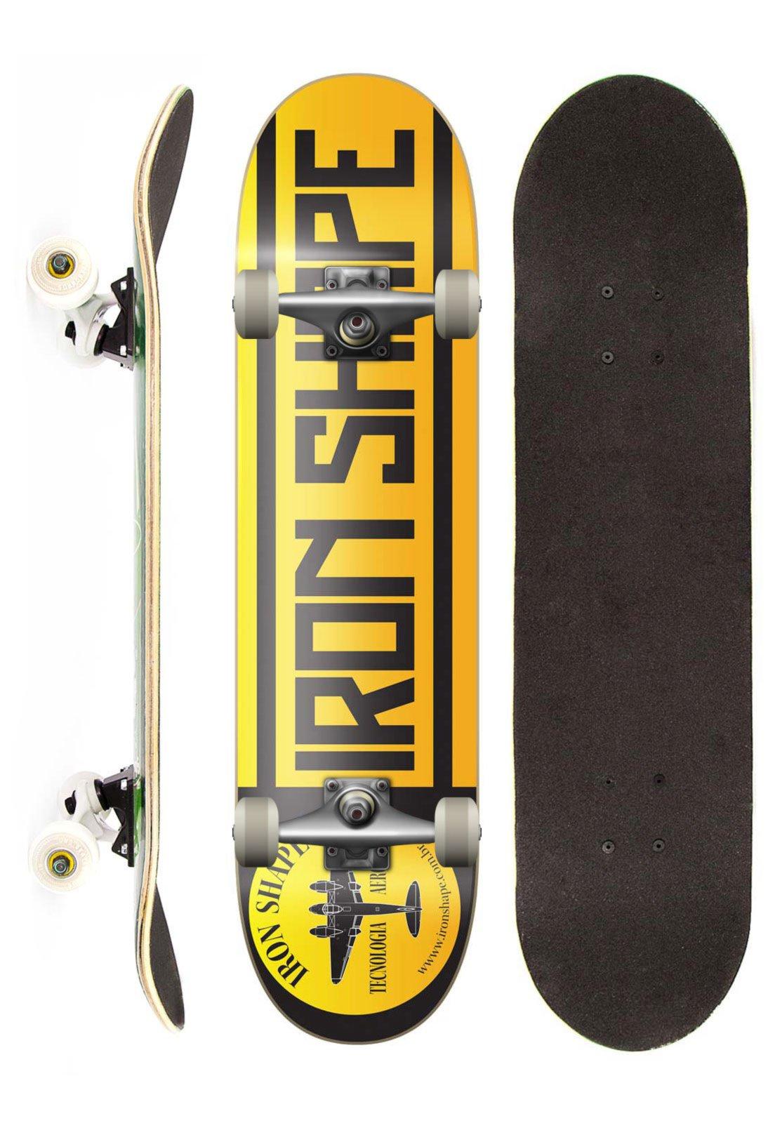 9732c744526fe Skate Completo Iron Profissional Logo Gold Street Amarelo - Compre Agora