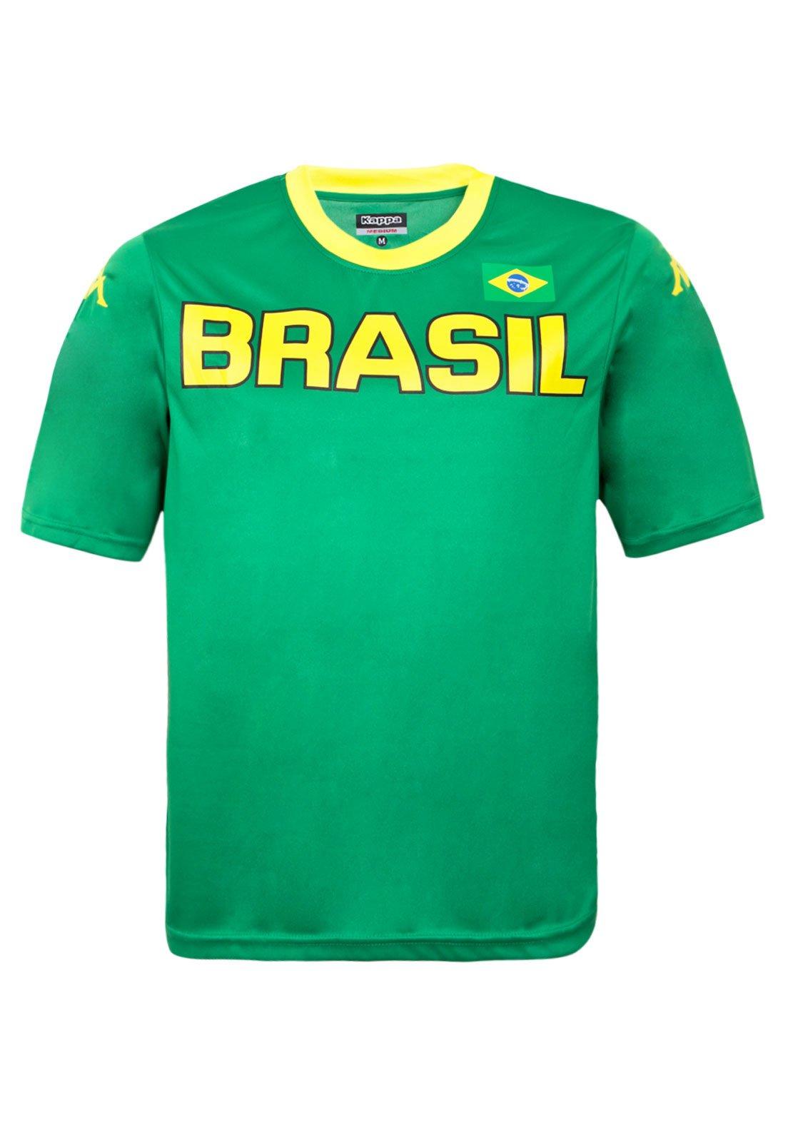 0b5cddb9e2a49 Camiseta Kappa Brasil Verde - Compre Agora
