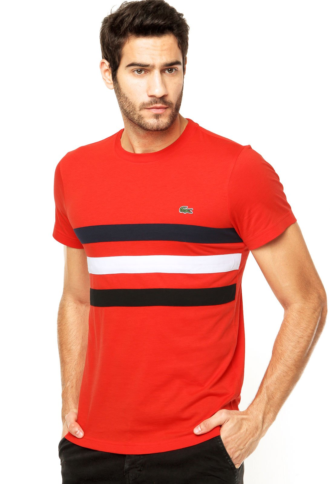 camisa lacoste com bolso 97a2d58c86