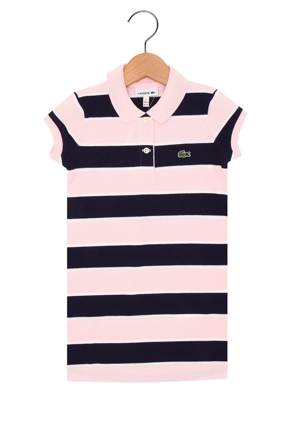 61202b9f37b Vestido Lacoste Menina Rosa - Compre Agora