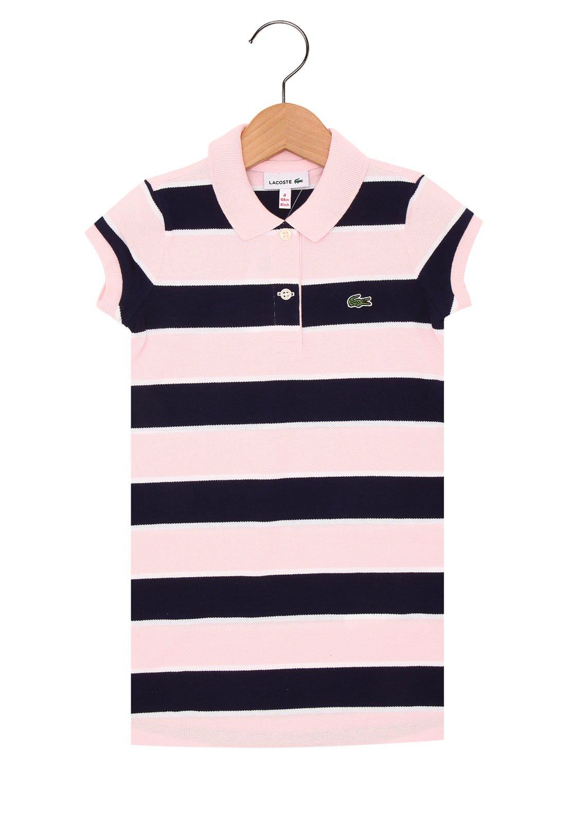 53244fc55c Vestido Lacoste Menina Rosa - Compre Agora