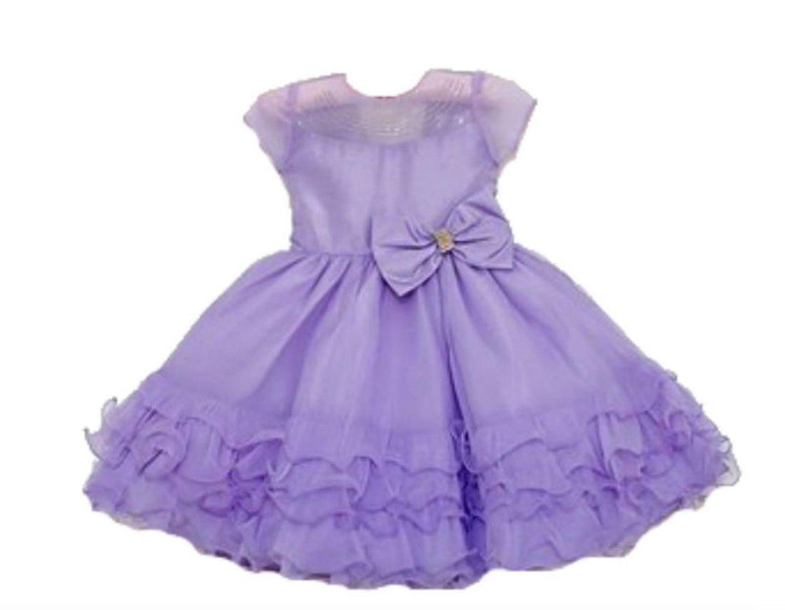 20a48710e1c373 Vestido Infantil de Festa Menina Bonita Lilás - Compre Agora ...