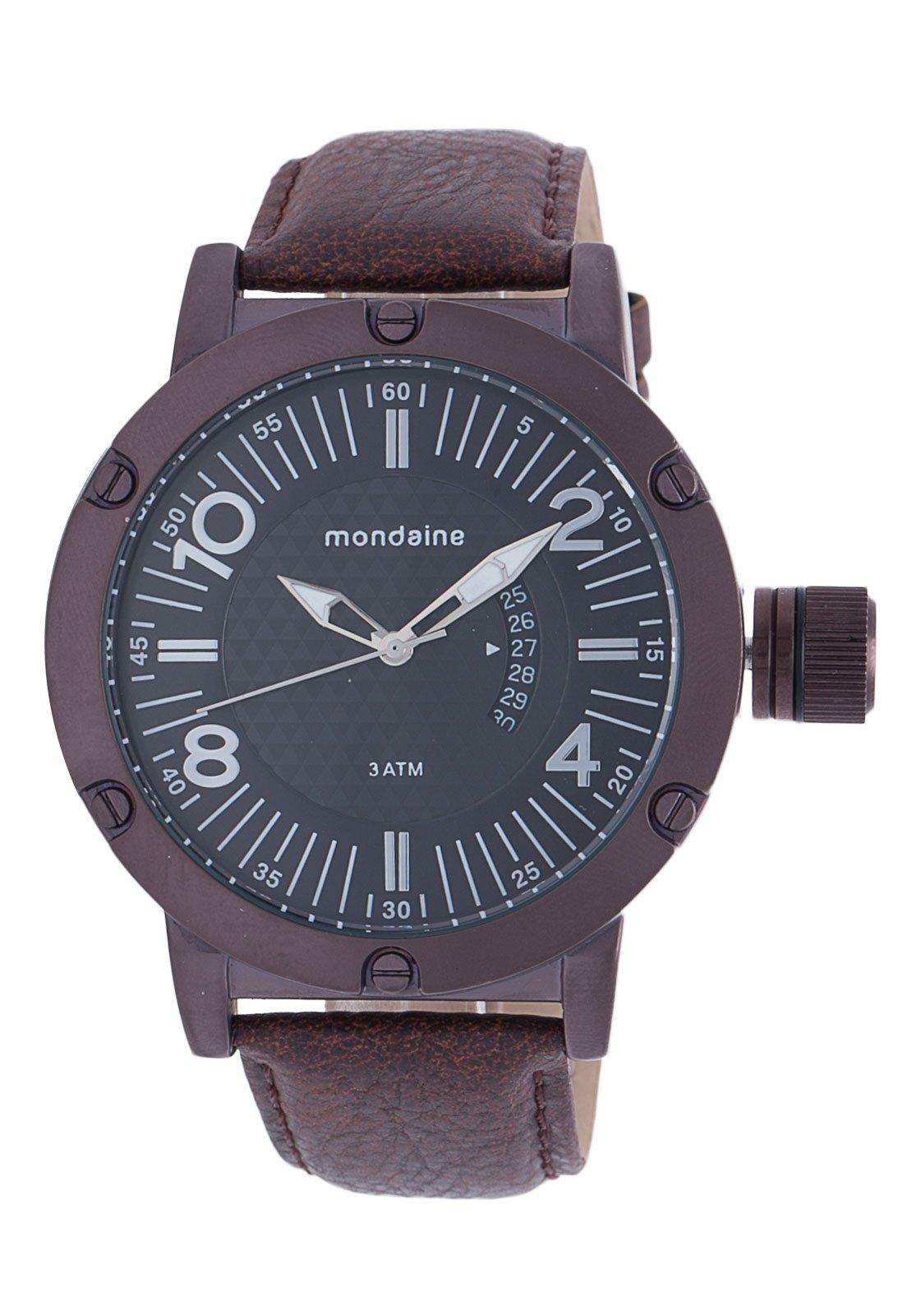 75077d51e75b4 Tio Ricardo) Relógio Masculino Mondaine - Caixa de 5,9 cm - R  88,10 ...