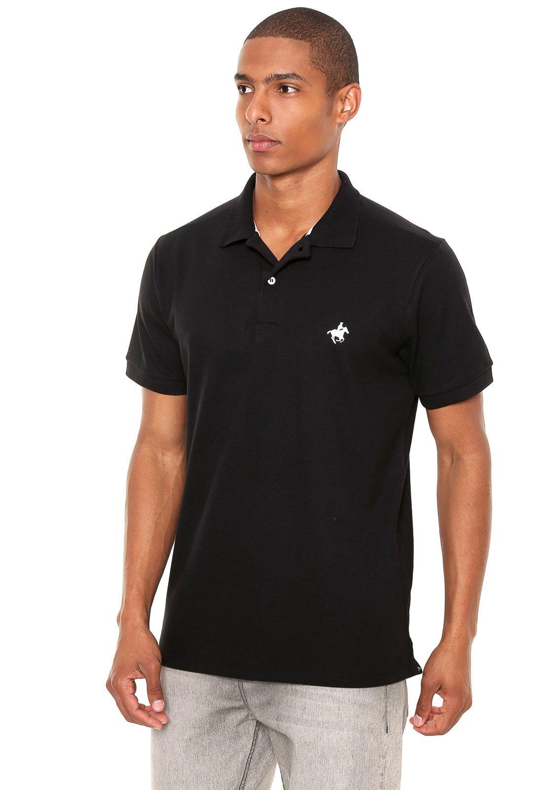7432da97f3 Camisa Polo Monte Carlo Polo Club Bordado Preta - Compre Agora ...
