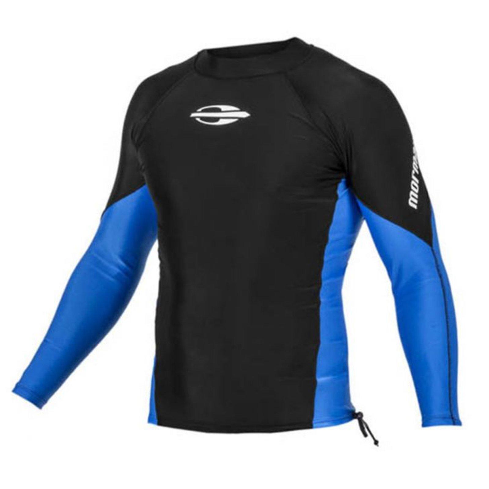 35e643428ea83 Camiseta Lycra Mormaii Extra Line UV Protection Preto Azul - Compre Agora