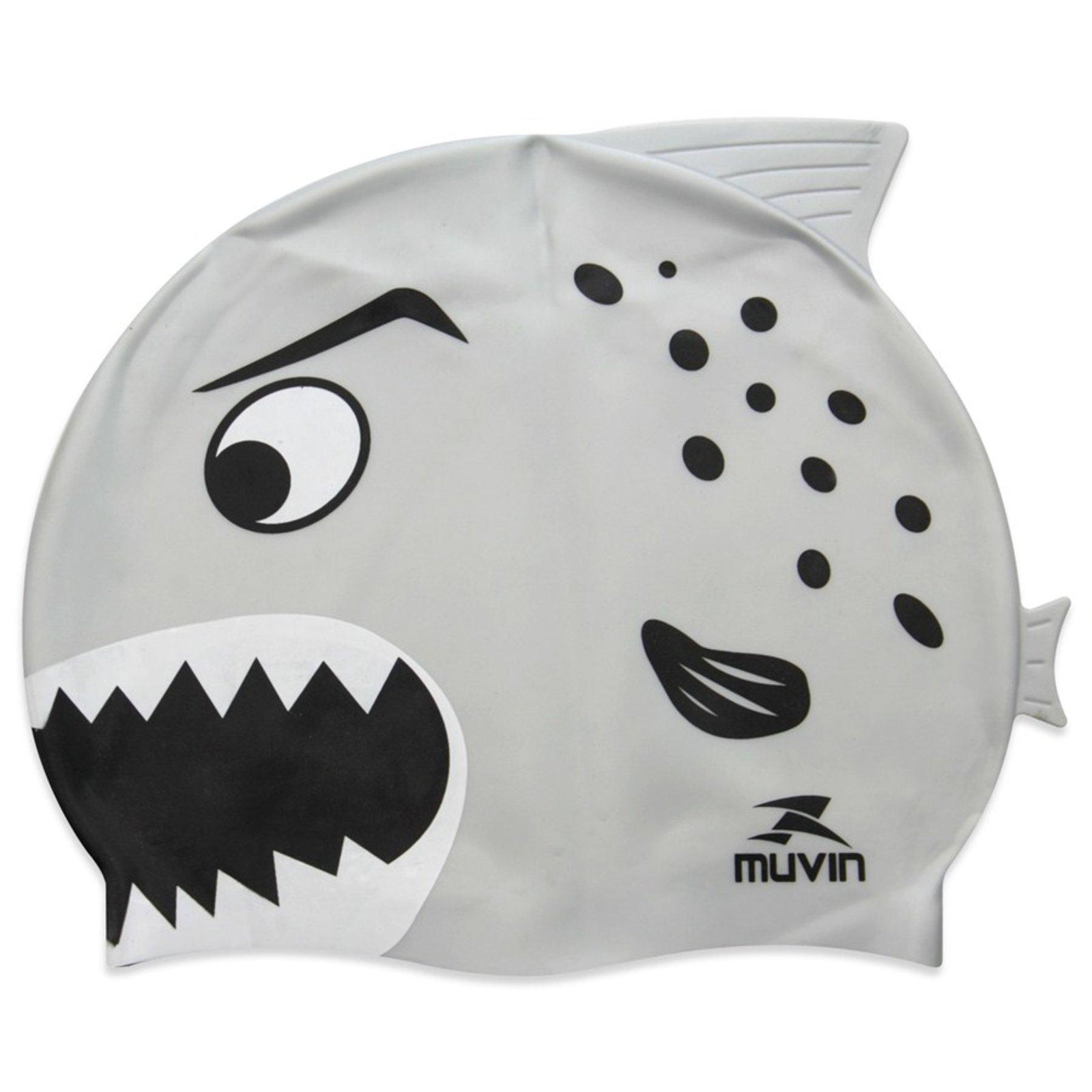 Touca de Natação em Silicone Kid Tubarão Muvin Prata - Compre Agora ... 36c82fe3590