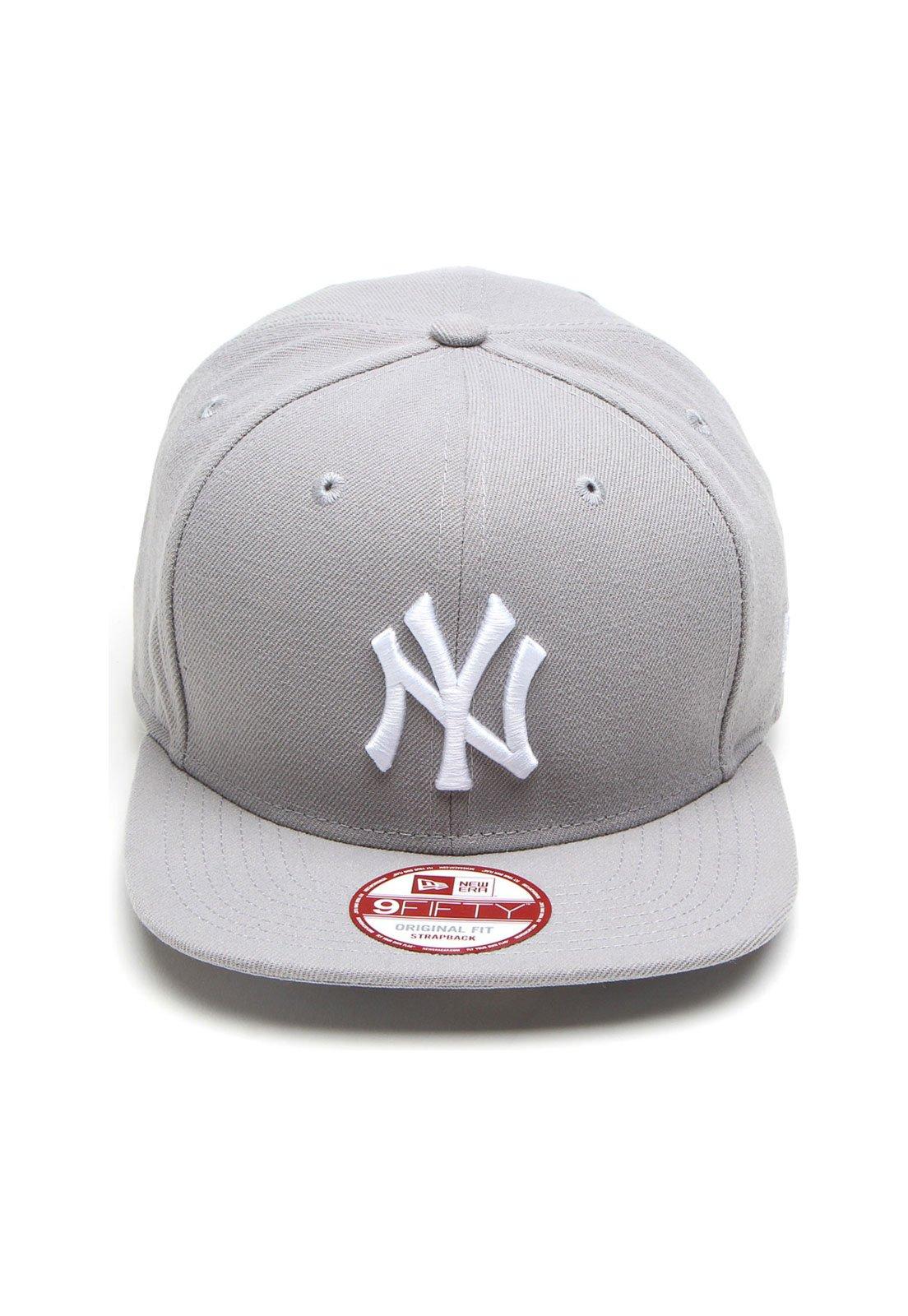Boné New Era Strapback 950 OF ST New York Yankees Cinza - Compre Agora  738cbfeec50