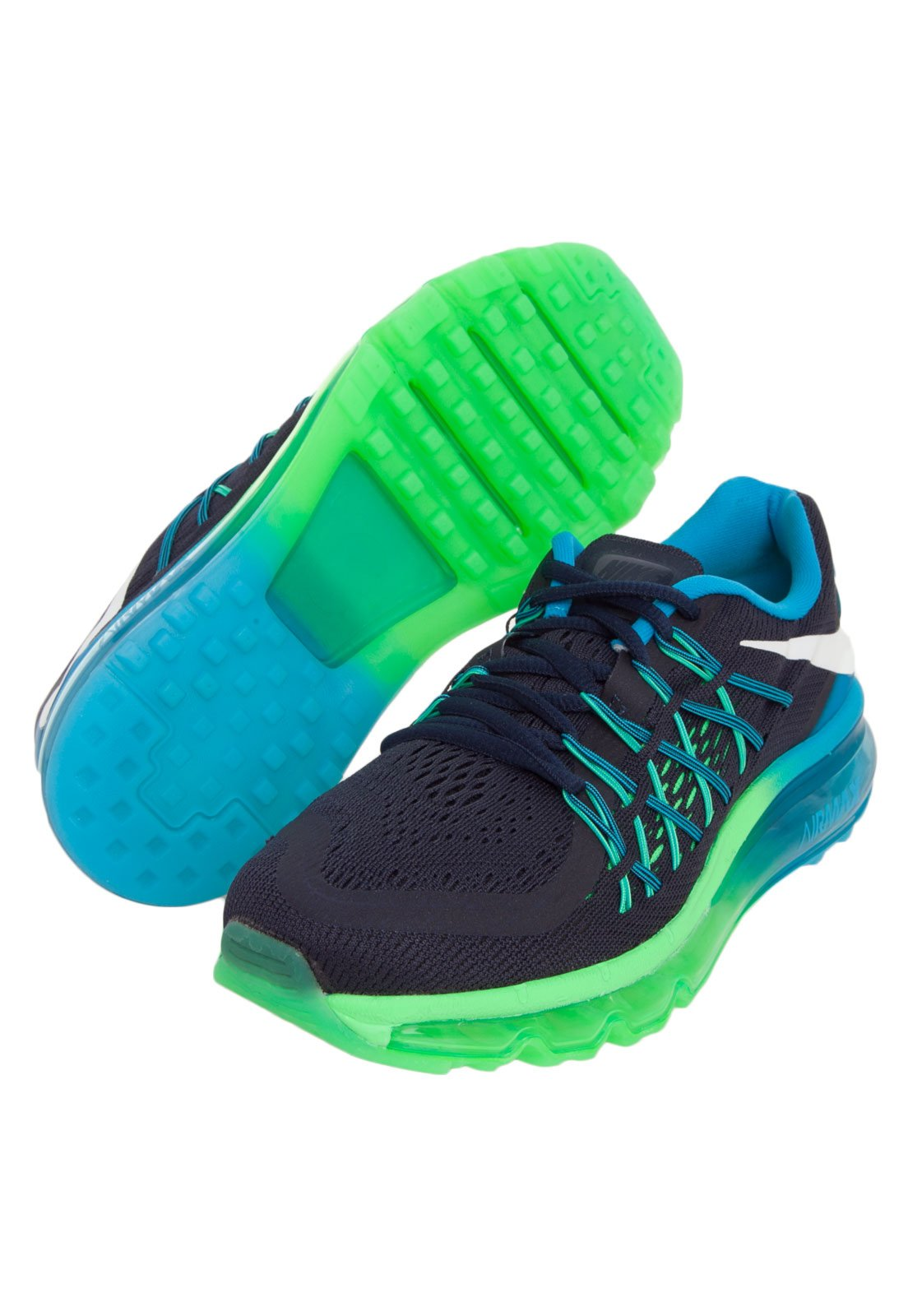 best service 833c4 48f25 ... real tenis nike air max azul e verde . 15665 b716d