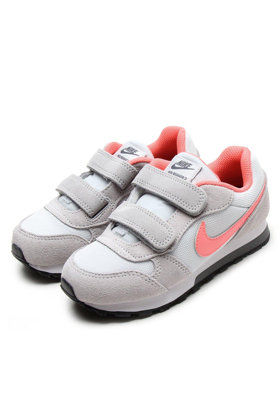 6c7b5fa2aa8 Tênis Nike MD Runner 2 (PS) Cinza Rosa - Compre Agora