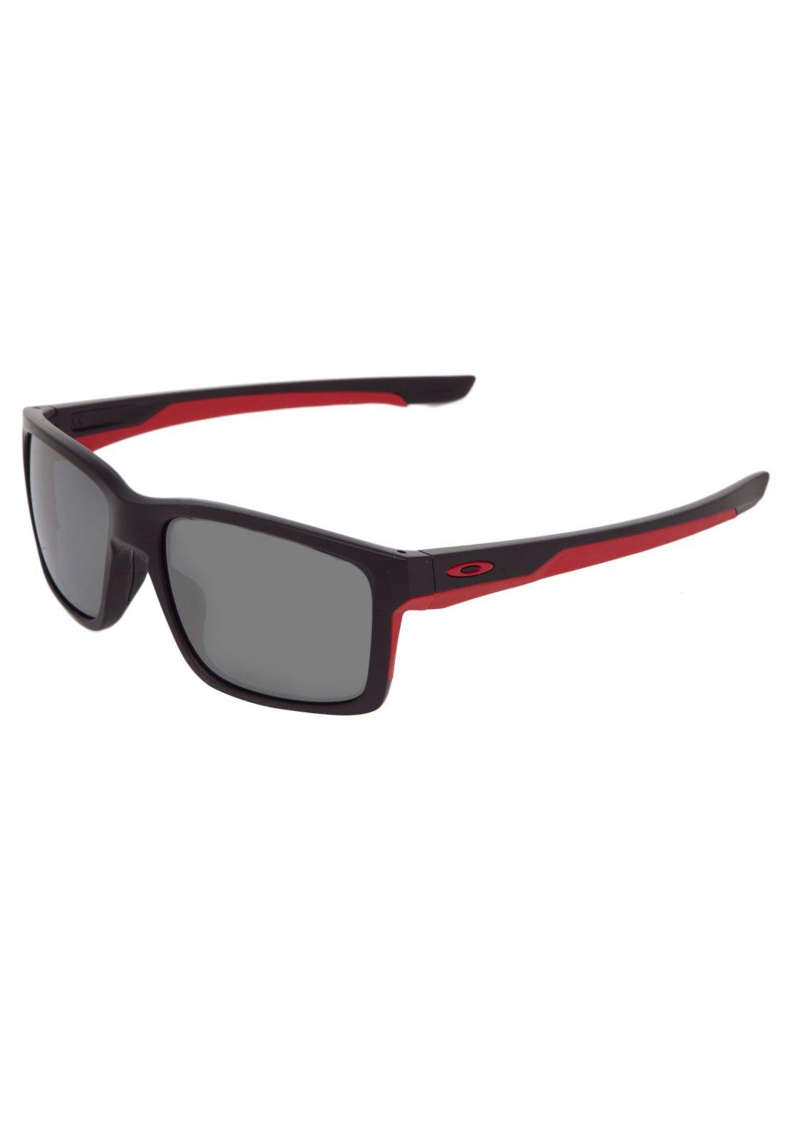 Oakley. Óculos de Sol Oakley Mainlink Preto Vermelho 507532be52