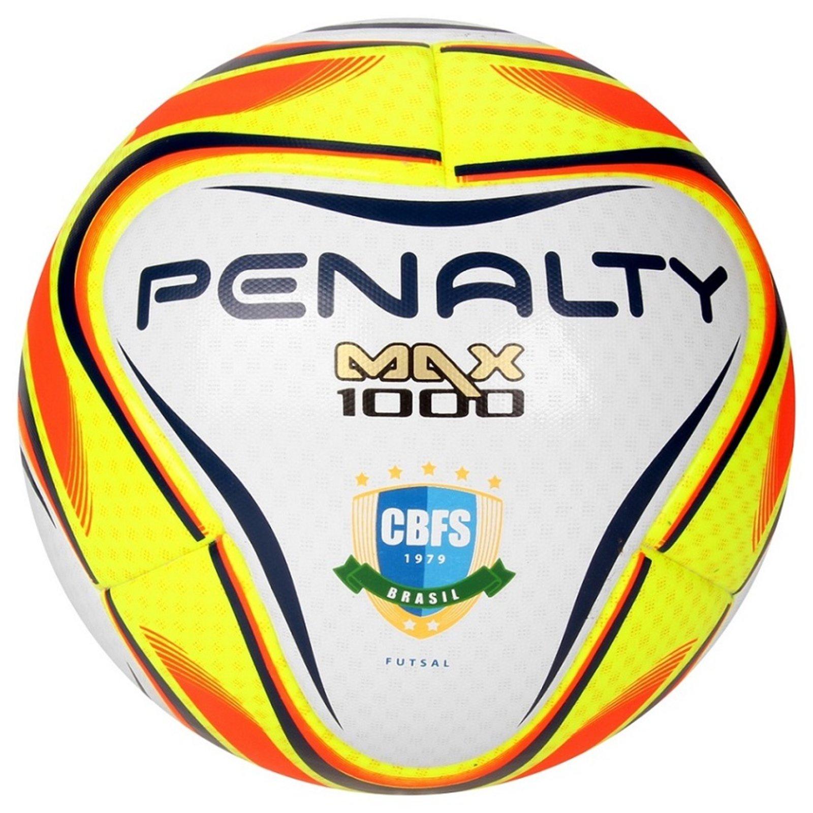 2e0cb598ce Bola Penalty Max 1000 6 Futsal Amarelo - Compre Agora