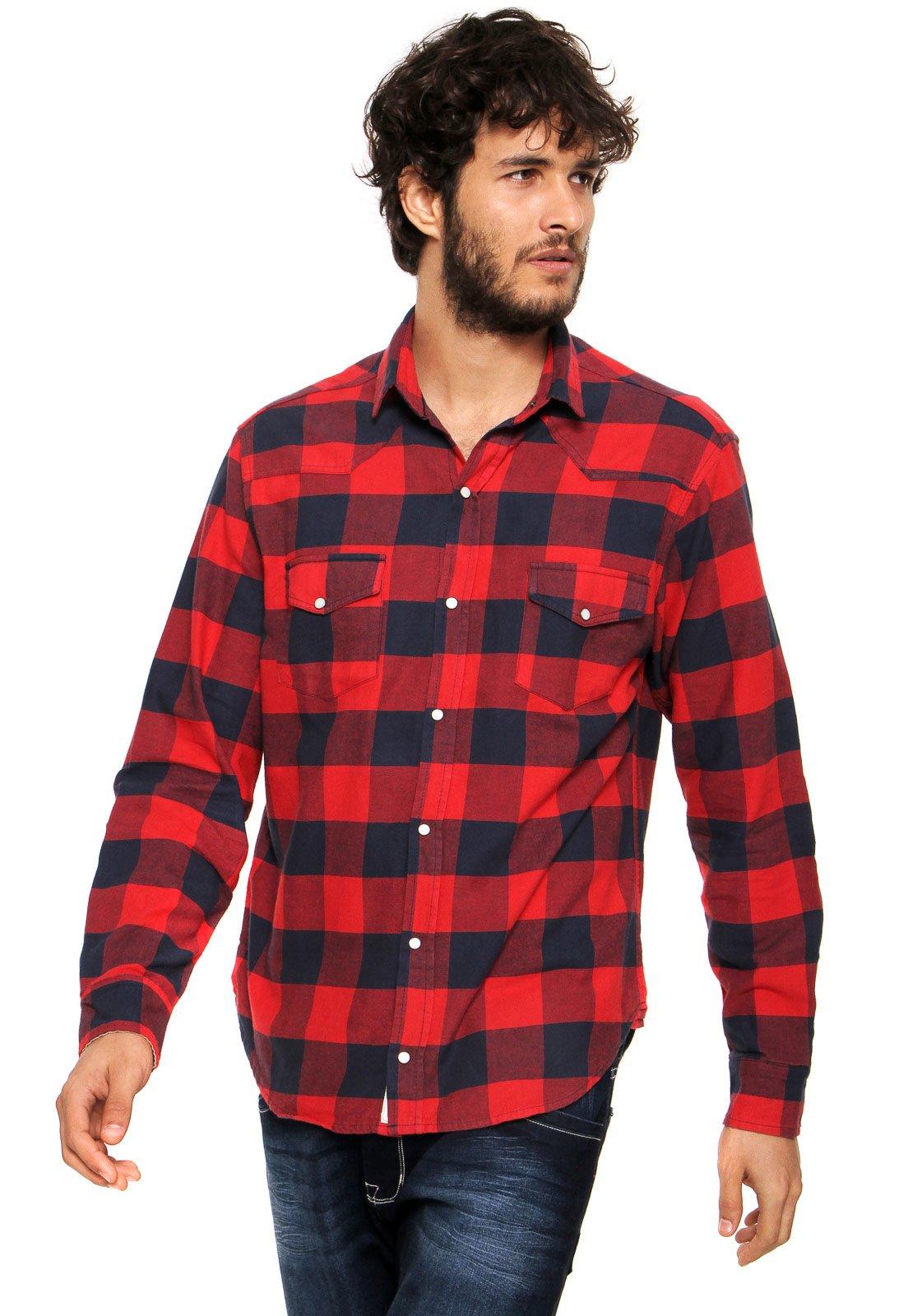 de4249c258 Camisa Pineapple Xadrez Vermelha - Compre Agora