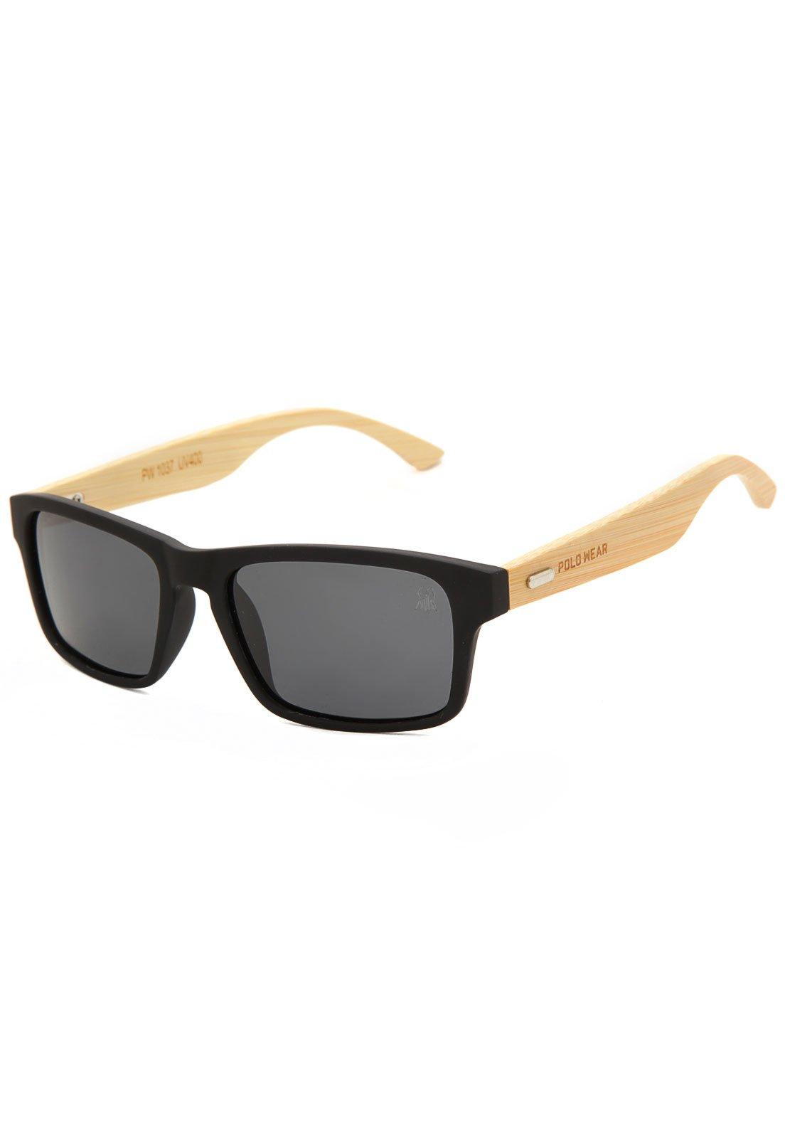 99a27fe4b Óculos de Sol Polo Wear Liso Preto - Compre Agora | Kanui Brasil