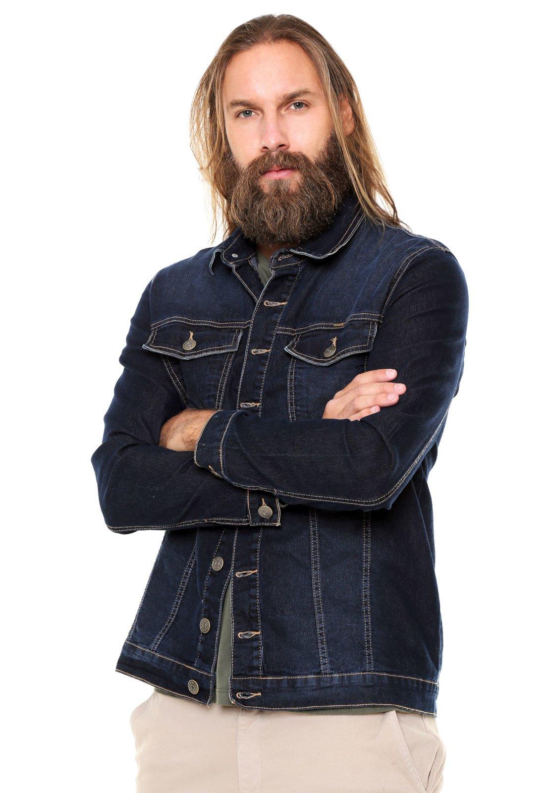 Jaqueta Jeans Polo Wear Bolsos Azul-marinho - Compre Agora  236dd49bce7cd
