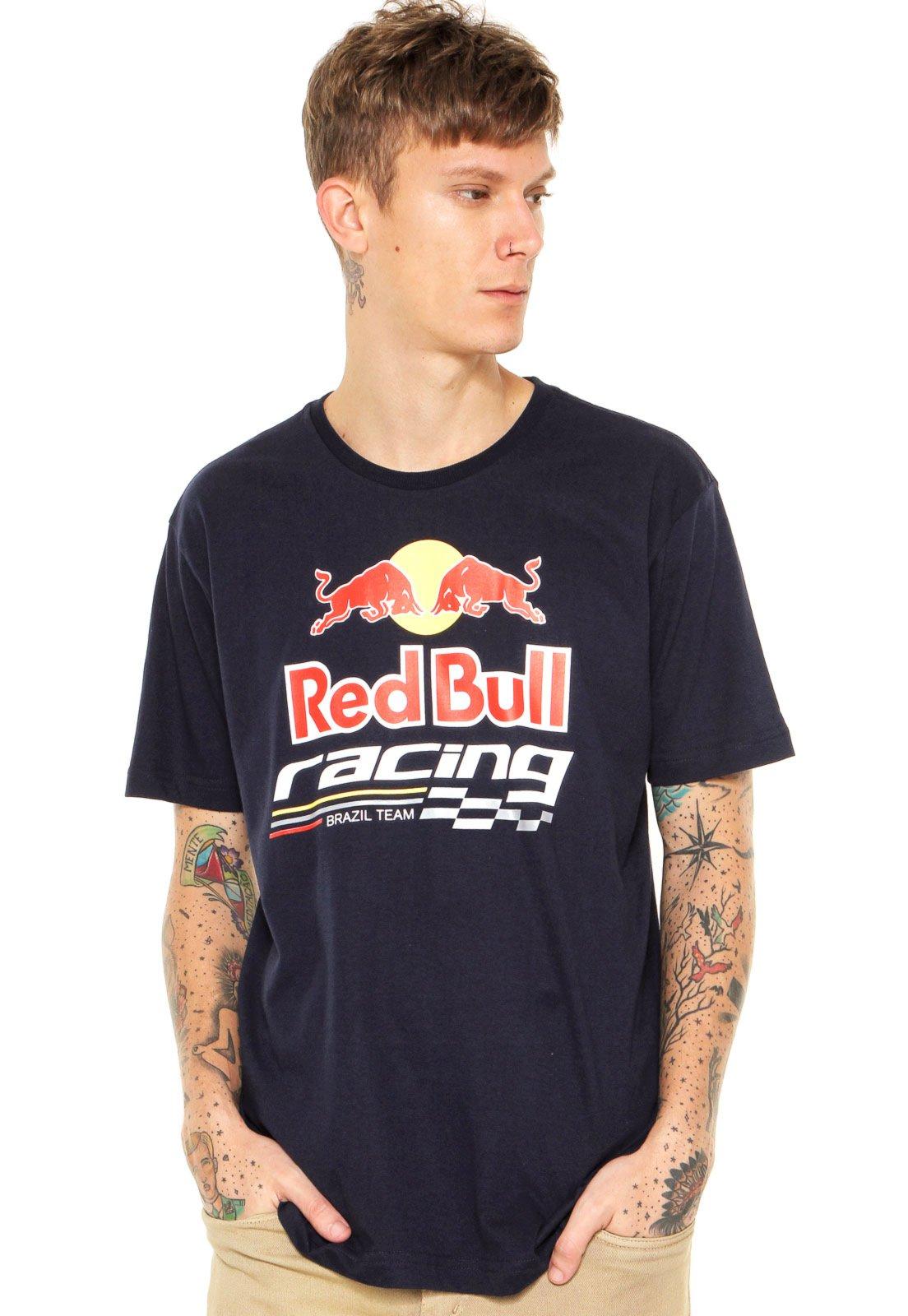 Camiseta RED BULL Logo Azul - Compre Agora  663d3271a31