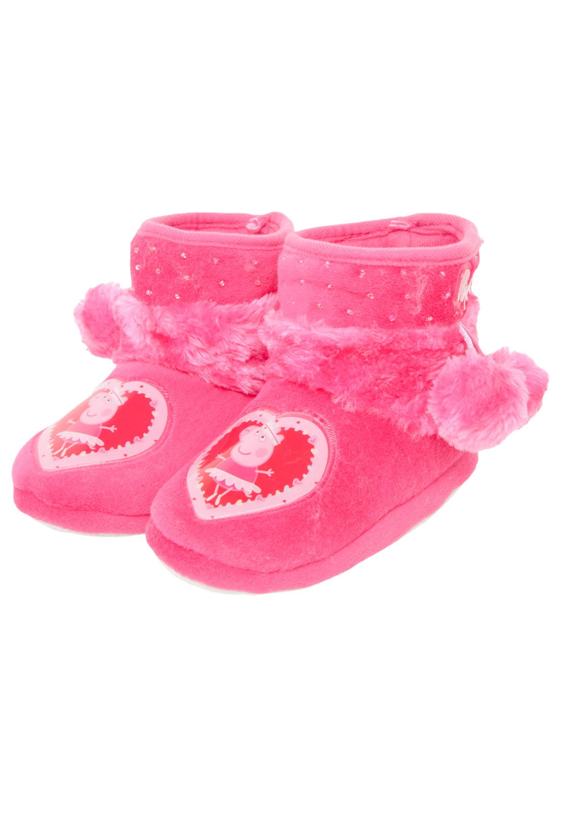 782986016e7b91 Pantufa Ricsen Infantil Peppa Pig Rosa