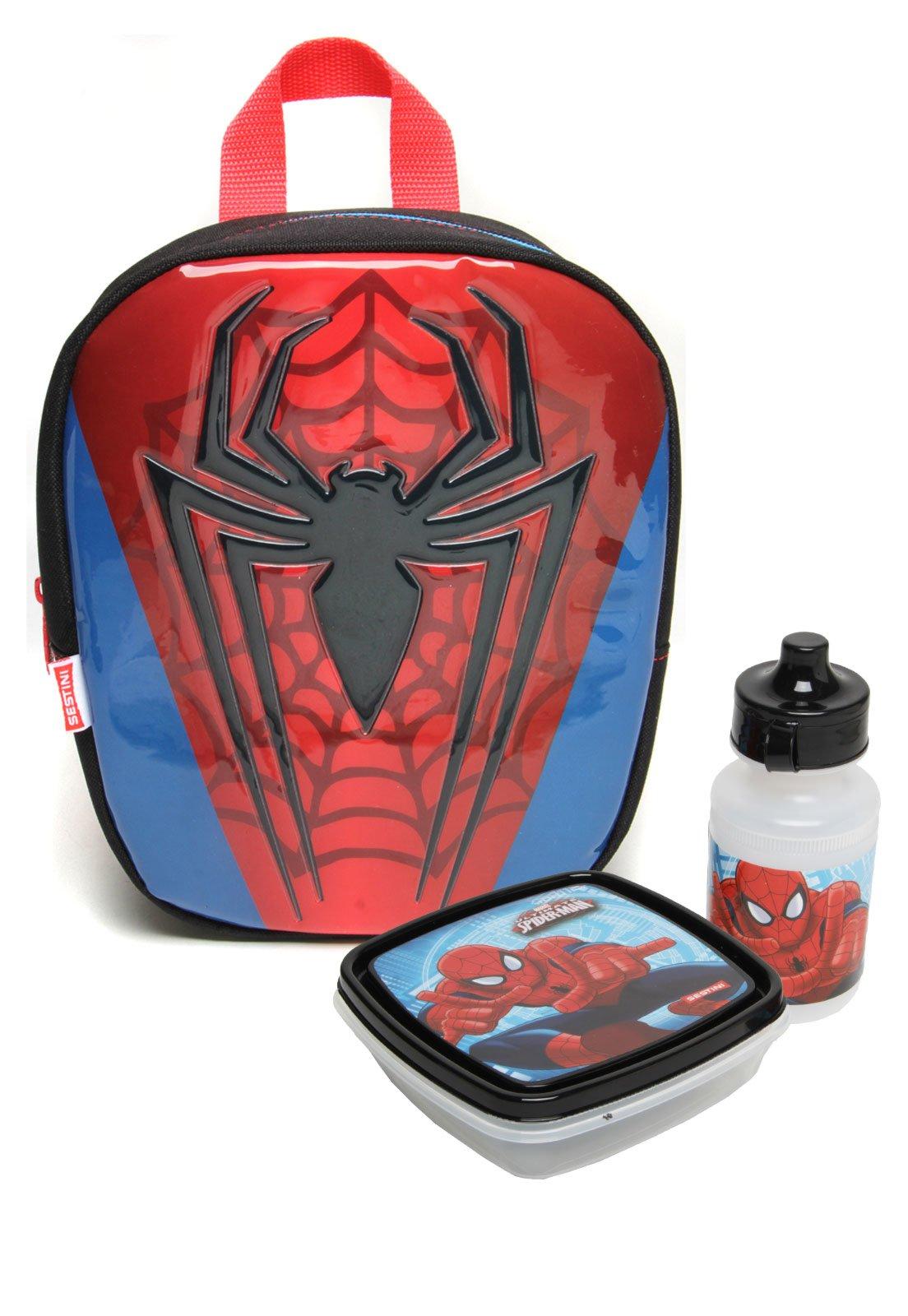 cb6f8f3d9 Lancheira Sestini Infantil 17Z Especial Spider-Man Preta/Azul/Vermelha -  Compre Agora | Tricae Brasil