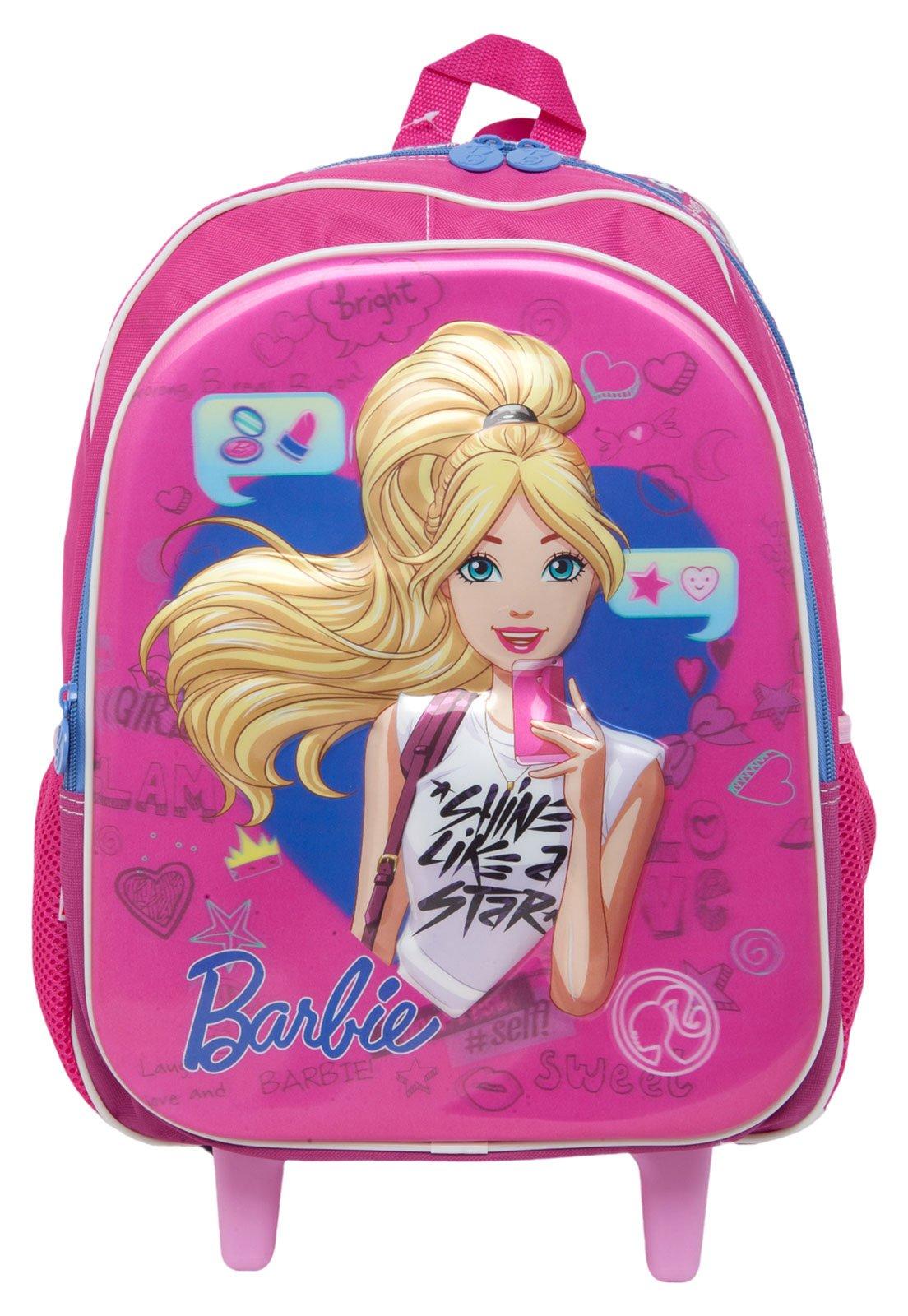e9c5cc489 Mochila de Rodinhas Sestini Barbie 17X G Rosa - Compre Agora | Tricae Brasil
