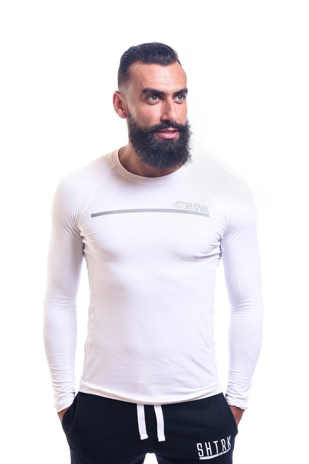 Camisa De Compressão Manga Longa Shatark - Branco - Compre Agora ... bdd3ee51e6ea3