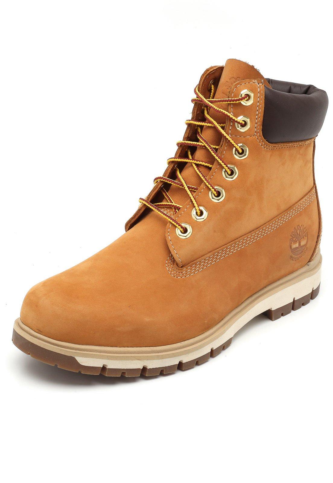 cda8204ce5 Timberland. Bota Timberland Bootradford 6 Boot Wp Wheat Waterbuck Amarelo
