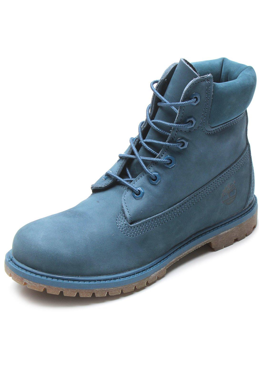a43f09c48d9 Bota Timberland Yellow Boot 6 Premium WP W Azul - Compre Agora ...