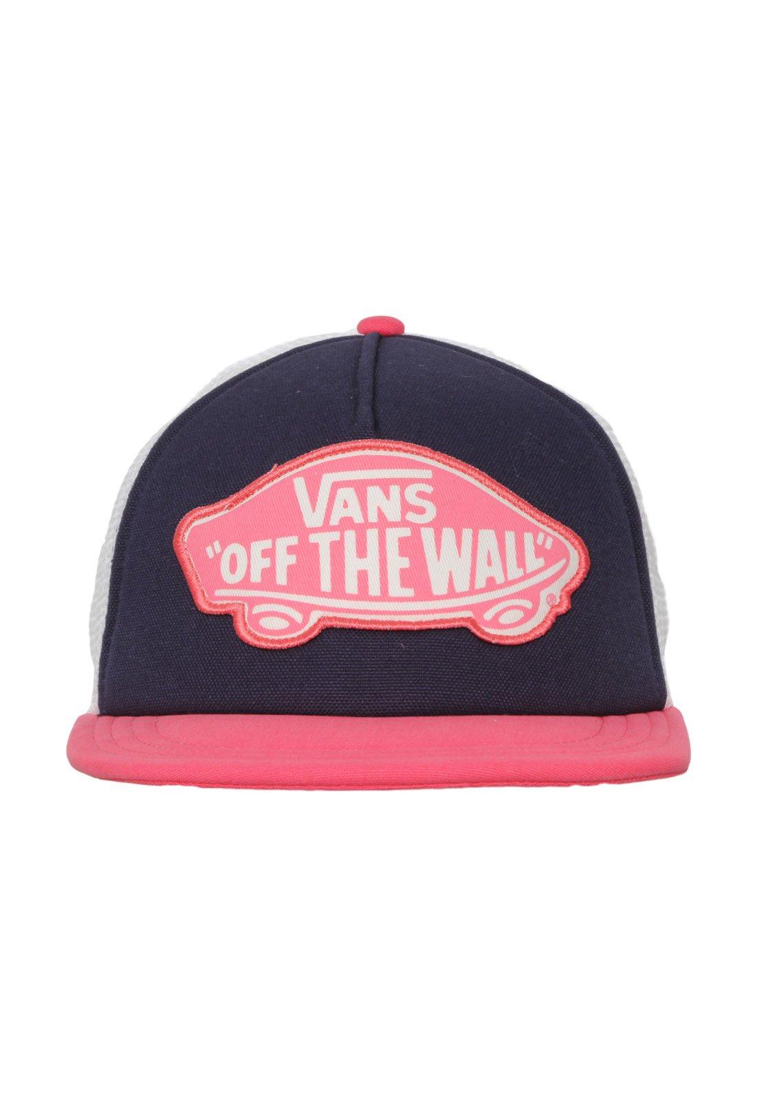 71e205865c Boné Vans Wm Beach Girl Trucker Hat Camellia Branco Rosa - Compre Agora