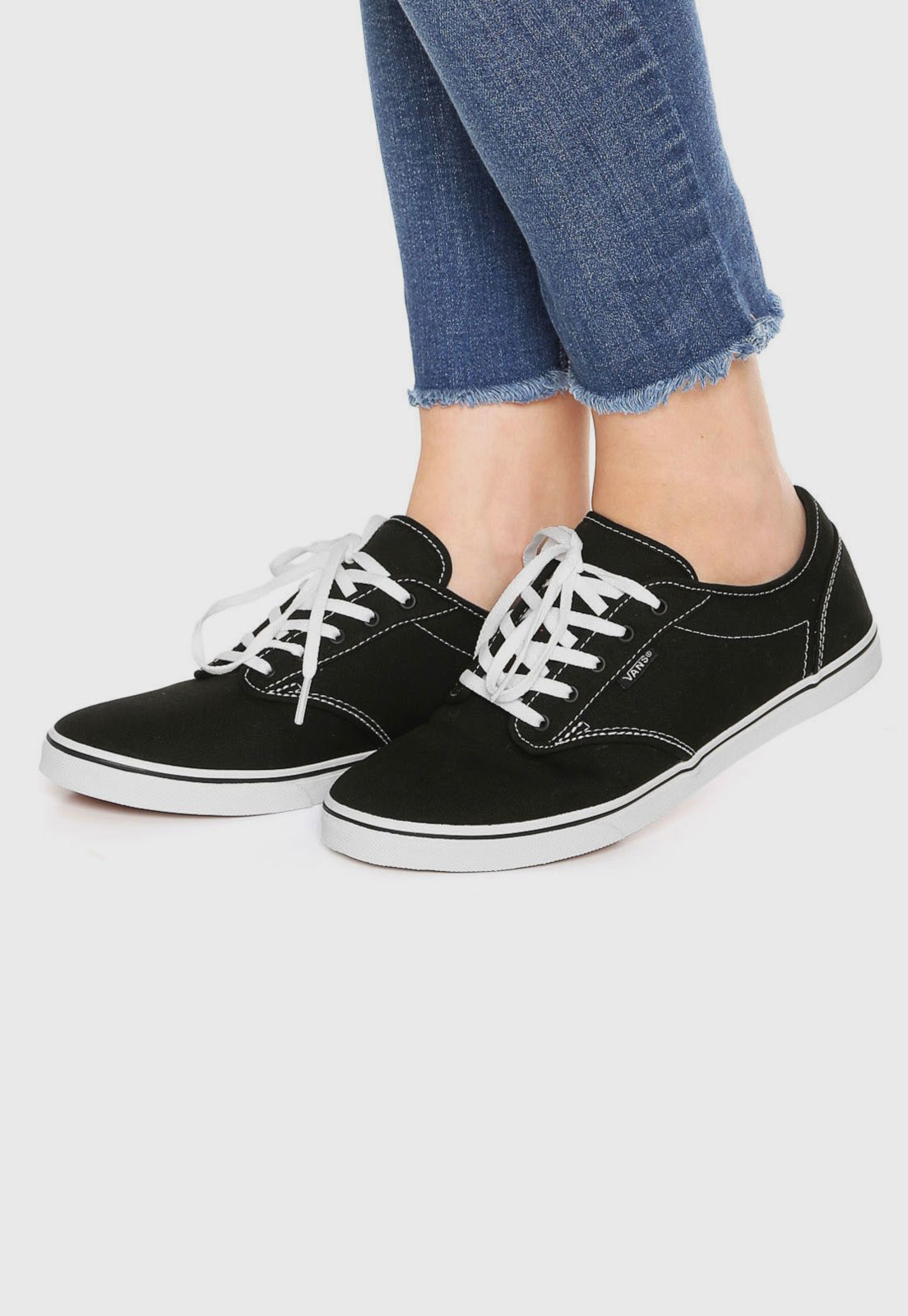 53bee586ae Tênis Vans Atwood Low Preto - Compre Agora
