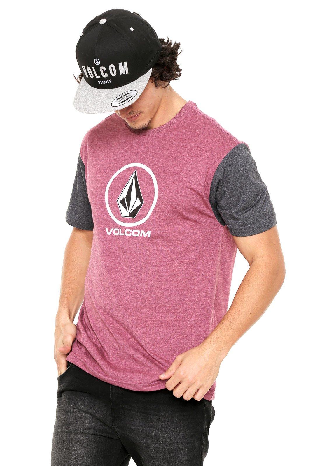 96851ef2bf Camiseta Volcom New Circle Vinho - Compre Agora